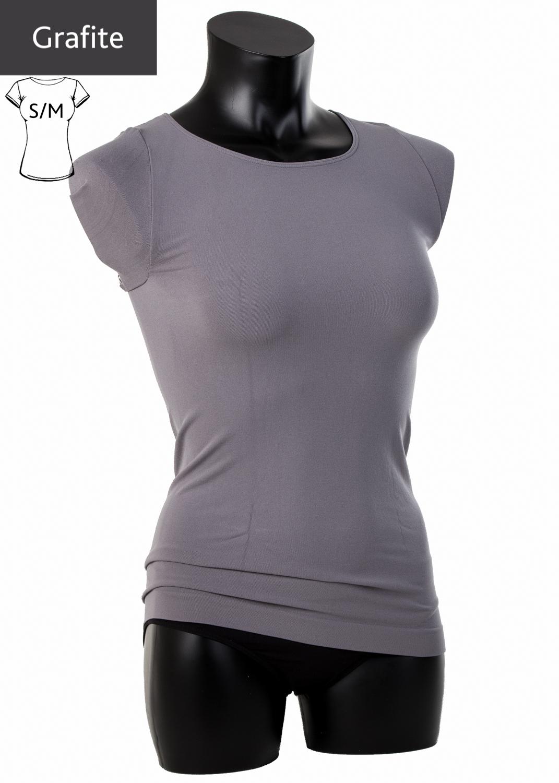 Футболки женские T-shirt scollo tondo manica corta вид 5