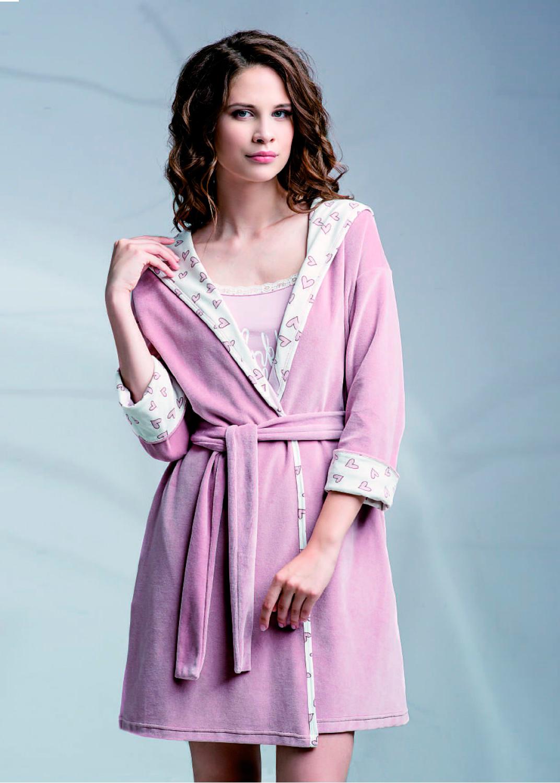 Домашняя одежда женский халат ldg 020/002